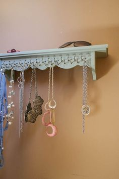 DIY Necklace Holder perfect to hang all your favorite jewelry pieces
