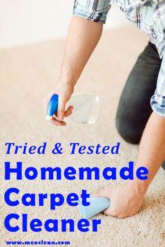Homemade Carpet Cleaner Recipe #diy #menclean