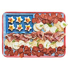 holiday, patriotic party, appet, theme parties, food, juli, 4th, parti idea, flag platter