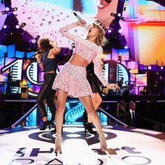 Decked out in signature sparkles, Taylor Swift performs in Las Vegas on Friday Sept 19, 2014 at the 2014 iHeartRadio Music Festival at the MGM Grand Garden Arena.