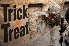 Knock, knock ... stay safe this Halloween, Marines. (U.S. Marine Corps photo by Cpl. Geoffrey Scarborough/Released)