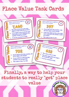 Dig deep into place value with these challenging task cards! $