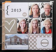 yearly cover page for project life - individual pics of each family member