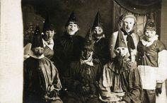 Vintage Creepy Halloween Party Photograph