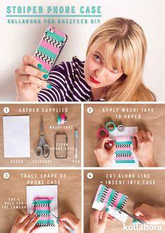Striped Phone Case DIY