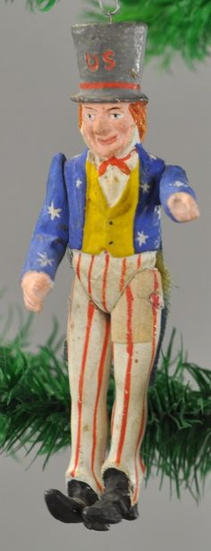 Lot # : 1375 - WHIMSICAL UNCLE SAM CHRISTMAS TREE ORNAMENT