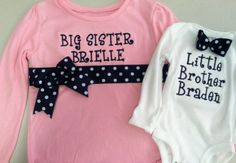 Big Sister/Little Brother Shirt Set by DesignsbyTTCT on Etsy,