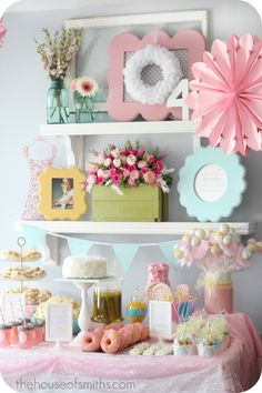 House of Smiths Fairy Ballerina Party!     This adorable party was for her four year old, but has a lot of fabulous ideas for room decor or baby showers!