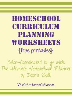 Homeschool Curriculum Planning Pages - Frugal Homeschool Family