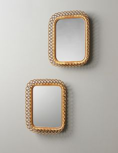 Josef Frank Glass And Bamboo Wall Mirrors For Svenskt Tenn S