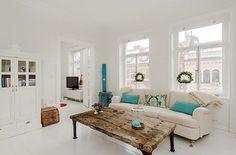 swedish country decor   ... and Antique Mix in White Swedish Apartment   Interior Design Files