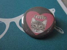 RUIN  1.25 Inch CAT PIN by TheEscapistArtist on Etsy, $2.50