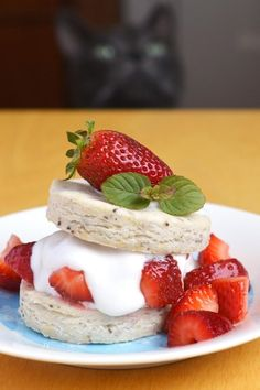 Vegan gluten-free strawberry shortcakes. #food #vegan #gluten_free #desserts #summer