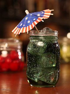 The Blue Orchard (blueberry schnapps, blue curacao, Angry Orchard Crisp Apple) #July4th #cocktails