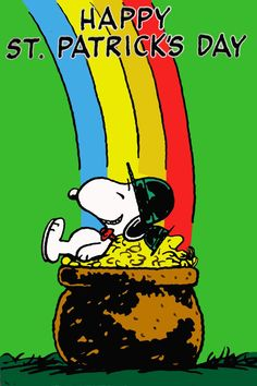 Happy St Patrick's Day with Snoopy