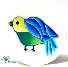 Polymer clay bird cane | Flickr - Photo Sharing!