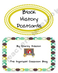 black history month Who am I? postcards
