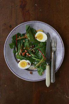 Collard Greens Salad with Peanut Vinaigrette by saveur #Salad #Collard_Greens #saveur