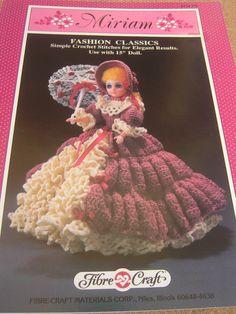 Free Fashion Doll Crochet Patterns, download | Miriam crochet doll pattern Fibre Craft by creekyattic on Etsy