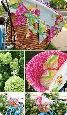 basket bike liner.  Fabulous idea.  She has a shop on etsy and I think I must have one of these!