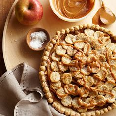 Yum! We'd love a pie of this Salted Caramel #Apple #Pie. Recipe: www.bhg.com/recipe/pies/salted-caramel-apple-pie/?socsrc=bhgpin092812saltedcaramelapplepie