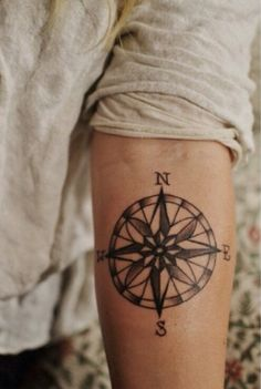 This is a great tattoo! #compass #socute
