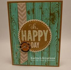 Karina's Kreations: Stampin'Up Hardwood Card!