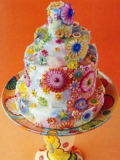 Cakes for a Rainbow Wedding Theme
