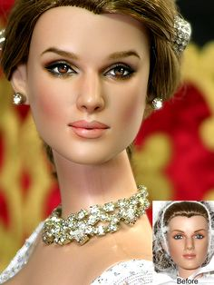 Keira Knightley Repaint Doll http://noeling.deviantart.com/gallery/