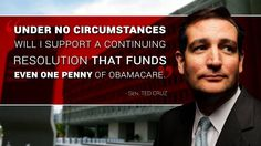 """The media DO NOT want to talk about conservatives like Ted Cruz fighting Obamacare tooth and nail.""  - Newsbusters.org"