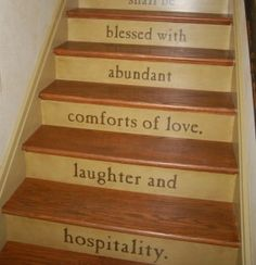 basement stairs, stairway, countri live, stair risers, carpets, hous, bible verses, basements, quot