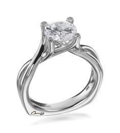 A. Jaffe - Signature Collection 18K White Gold Solitaire Twist Setting
