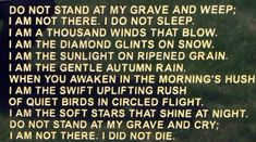 Just the poem I want read at my funeral...