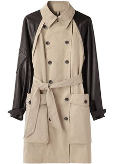 Rag & Bone / Bishop Trench with Leather Sleeves | La Garçonne