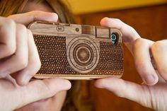wood camera iPhone case. heart it.