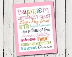 LDS Girl Baptism Subway Art - Instant Download  Find more LDS greats at: MormonFavorites.com