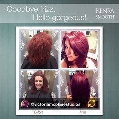 Beautiful Kenra Smooth and Kenra Color from Instagrammer @victoriamcpheestudios!  Kenra Color formula: 1oz 7RR + 1/4oz Red Booster