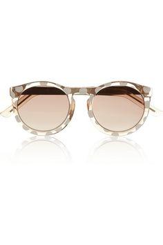 LE SPECS Cheshire polka-dot round-frame acetate sunglasses #PolkaDot #Sunglasses #LeSpecs
