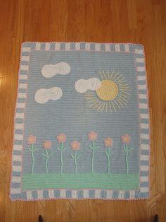 Flower afghan    Crochet child's afghan