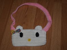 hello kitty crochet purse by Serena Guimarey