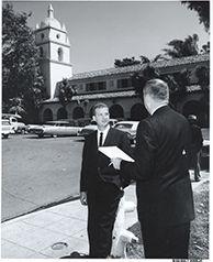 State Senator Robert Lagomarsino at Camarillo State Hospital.