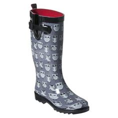 rainboot, style, women owl, owl rain, rain boot, grey, owl boot, boots, owls