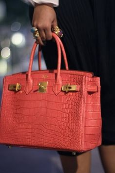 Croco leather birkin