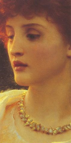 Sir Frank Dicksee, Sylvia (detail) by Gatochy, via Flickr