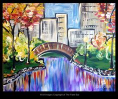 Autumn in Central Park Painting - Jackie Schon, The Paint Bar