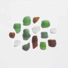 Sea Glass Bottle Lips Mixed Colors Caribbean Sea Glass by JanJat, $14.00