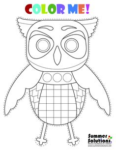 A cute owl coloring page. Enjoy! Repin!