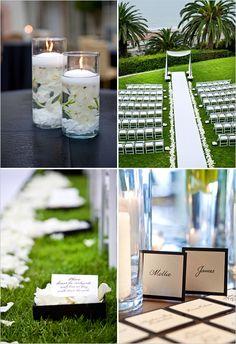 Black and White Wedding Details