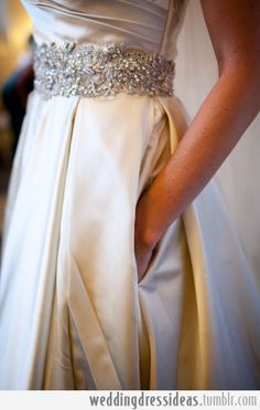 Wedding Dress has pockets | via RedBird Paperie
