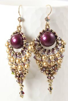 Marcia deCoster: Santa Lucia earrings. These are beautiful.